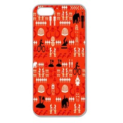 Traditional Wayang Apple Seamless iPhone 5 Case (Clear)