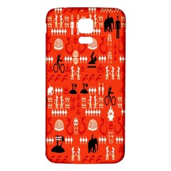 Traditional Wayang Samsung Galaxy S5 Back Case (White)