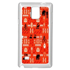 Traditional Wayang Samsung Galaxy Note 4 Case (White)