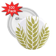 Tree Wheat 2 25  Buttons (100 Pack)