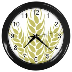 Tree Wheat Wall Clocks (black)