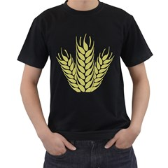 Tree Wheat Men s T-Shirt (Black) (Two Sided)