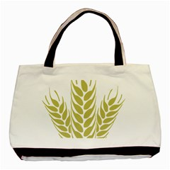 Tree Wheat Basic Tote Bag (Two Sides)