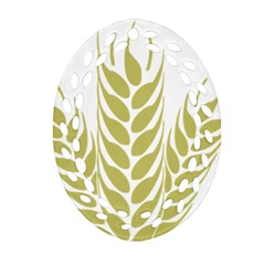 Tree Wheat Oval Filigree Ornament (two Sides)