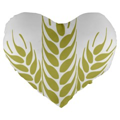 Tree Wheat Large 19  Premium Heart Shape Cushions