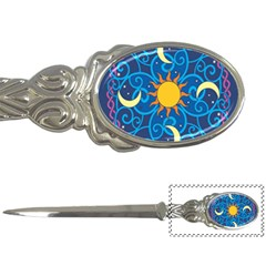 Sun Moon Star Space Purple Pink Blue Yellow Wave Letter Openers