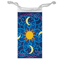 Sun Moon Star Space Purple Pink Blue Yellow Wave Jewelry Bag