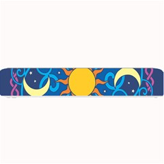 Sun Moon Star Space Purple Pink Blue Yellow Wave Small Bar Mats