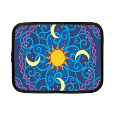Sun Moon Star Space Purple Pink Blue Yellow Wave Netbook Case (Small)