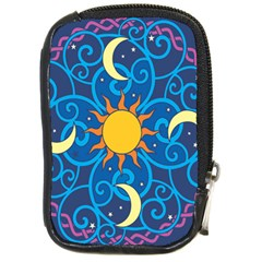 Sun Moon Star Space Purple Pink Blue Yellow Wave Compact Camera Cases