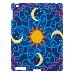 Sun Moon Star Space Purple Pink Blue Yellow Wave Apple iPad 3/4 Hardshell Case