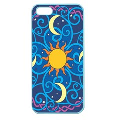 Sun Moon Star Space Purple Pink Blue Yellow Wave Apple Seamless Iphone 5 Case (color)