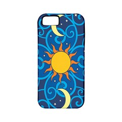 Sun Moon Star Space Purple Pink Blue Yellow Wave Apple iPhone 5 Classic Hardshell Case (PC+Silicone)