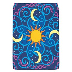 Sun Moon Star Space Purple Pink Blue Yellow Wave Flap Covers (L)