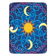 Sun Moon Star Space Purple Pink Blue Yellow Wave Samsung Galaxy Tab 3 (10.1 ) P5200 Hardshell Case