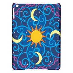 Sun Moon Star Space Purple Pink Blue Yellow Wave iPad Air Hardshell Cases