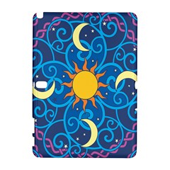 Sun Moon Star Space Purple Pink Blue Yellow Wave Galaxy Note 1