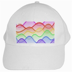 Twizzling Brain Waves Neon Wave Rainbow Color Pink Red Yellow Green Purple Blue White Cap