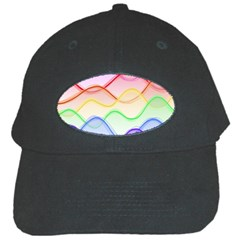 Twizzling Brain Waves Neon Wave Rainbow Color Pink Red Yellow Green Purple Blue Black Cap
