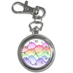 Twizzling Brain Waves Neon Wave Rainbow Color Pink Red Yellow Green Purple Blue Key Chain Watches
