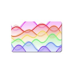 Twizzling Brain Waves Neon Wave Rainbow Color Pink Red Yellow Green Purple Blue Magnet (Name Card)