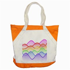 Twizzling Brain Waves Neon Wave Rainbow Color Pink Red Yellow Green Purple Blue Accent Tote Bag