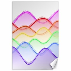 Twizzling Brain Waves Neon Wave Rainbow Color Pink Red Yellow Green Purple Blue Canvas 20  x 30