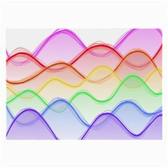 Twizzling Brain Waves Neon Wave Rainbow Color Pink Red Yellow Green Purple Blue Large Glasses Cloth (2-Side)