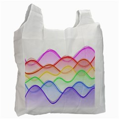 Twizzling Brain Waves Neon Wave Rainbow Color Pink Red Yellow Green Purple Blue Recycle Bag (One Side)