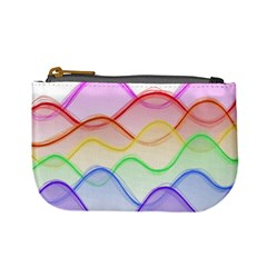 Twizzling Brain Waves Neon Wave Rainbow Color Pink Red Yellow Green Purple Blue Mini Coin Purses
