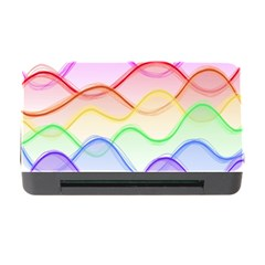 Twizzling Brain Waves Neon Wave Rainbow Color Pink Red Yellow Green Purple Blue Memory Card Reader with CF