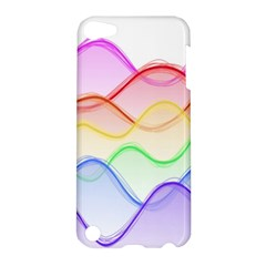 Twizzling Brain Waves Neon Wave Rainbow Color Pink Red Yellow Green Purple Blue Apple iPod Touch 5 Hardshell Case
