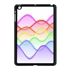 Twizzling Brain Waves Neon Wave Rainbow Color Pink Red Yellow Green Purple Blue Apple iPad Mini Case (Black)