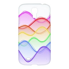 Twizzling Brain Waves Neon Wave Rainbow Color Pink Red Yellow Green Purple Blue Samsung Galaxy S4 I9500/I9505 Hardshell Case