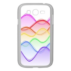 Twizzling Brain Waves Neon Wave Rainbow Color Pink Red Yellow Green Purple Blue Samsung Galaxy Grand DUOS I9082 Case (White)