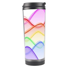 Twizzling Brain Waves Neon Wave Rainbow Color Pink Red Yellow Green Purple Blue Travel Tumbler