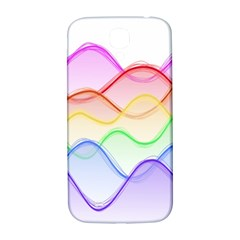 Twizzling Brain Waves Neon Wave Rainbow Color Pink Red Yellow Green Purple Blue Samsung Galaxy S4 I9500/i9505  Hardshell Back Case