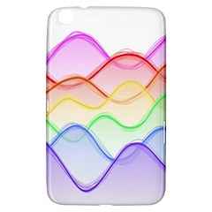 Twizzling Brain Waves Neon Wave Rainbow Color Pink Red Yellow Green Purple Blue Samsung Galaxy Tab 3 (8 ) T3100 Hardshell Case