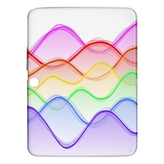 Twizzling Brain Waves Neon Wave Rainbow Color Pink Red Yellow Green Purple Blue Samsung Galaxy Tab 3 (10.1 ) P5200 Hardshell Case