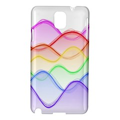 Twizzling Brain Waves Neon Wave Rainbow Color Pink Red Yellow Green Purple Blue Samsung Galaxy Note 3 N9005 Hardshell Case