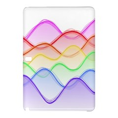 Twizzling Brain Waves Neon Wave Rainbow Color Pink Red Yellow Green Purple Blue Samsung Galaxy Tab Pro 12.2 Hardshell Case