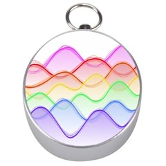 Twizzling Brain Waves Neon Wave Rainbow Color Pink Red Yellow Green Purple Blue Silver Compasses