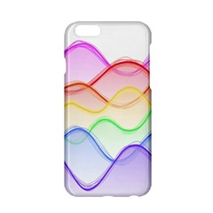 Twizzling Brain Waves Neon Wave Rainbow Color Pink Red Yellow Green Purple Blue Apple iPhone 6/6S Hardshell Case