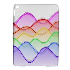 Twizzling Brain Waves Neon Wave Rainbow Color Pink Red Yellow Green Purple Blue iPad Air 2 Hardshell Cases