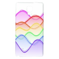 Twizzling Brain Waves Neon Wave Rainbow Color Pink Red Yellow Green Purple Blue Galaxy Note 4 Back Case