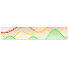 Twizzling Brain Waves Neon Wave Rainbow Color Pink Red Yellow Green Purple Blue Flano Scarf (Large)
