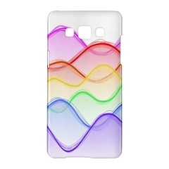 Twizzling Brain Waves Neon Wave Rainbow Color Pink Red Yellow Green Purple Blue Samsung Galaxy A5 Hardshell Case