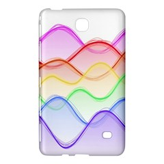 Twizzling Brain Waves Neon Wave Rainbow Color Pink Red Yellow Green Purple Blue Samsung Galaxy Tab 4 (8 ) Hardshell Case