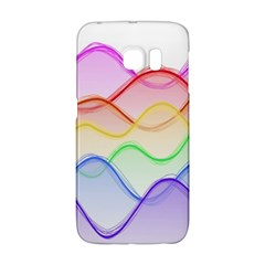 Twizzling Brain Waves Neon Wave Rainbow Color Pink Red Yellow Green Purple Blue Galaxy S6 Edge