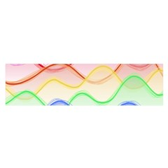 Twizzling Brain Waves Neon Wave Rainbow Color Pink Red Yellow Green Purple Blue Satin Scarf (Oblong)